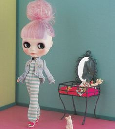 Kenner Blythe one Jumpsuit All in One and Ruffled Jacket set E PATTERN in Japanese crafts pdf doll fashion clothes. $3.00, via Etsy.