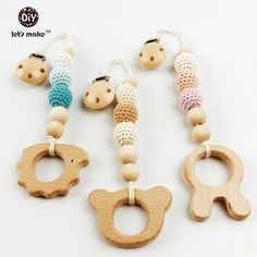 Aliexpress.com : Buy baby teether crochet holder pacifier clip Baby shower…