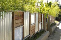 Pallet and Metal Fence (for side yard hosta garden)