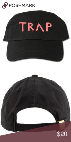 92dbc1d8 Pretty Girls Like Trap Music Black Dad Hat adult hat Graphic at front  Strapback One size cotton Designed with vinyl Accessories Hats