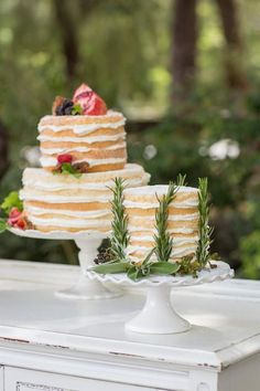 Naked Cakes | Designs by Hemingway and Jeannemarie Photography | see more on…