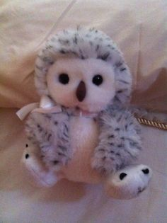 Fluffy grey owl. The first fluffy owl of my collection.