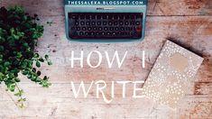 How I Write - Summer Snowflakes