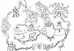 Jills tassen tekening.