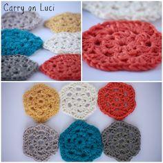 Carry on Luci: DIY: Guirnalda crochet III, tutorial granny mini hexágono