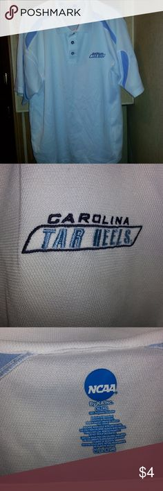 K A Inc Mans White NCAA - Carolina Tar Heels Actual Pictures of  K A Inc Mans White NCAA - Carolina Tar Heels        I (slscsi) have 1200+ Positive Transactions on eBay.  Products are in Excellent Condition & Free of Dirt, Holes, Rips or Stains. K A Inc - NCAA - Carolina Tar Heels Shirts Polos