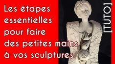 comment faire de petites mains pour vos petites sculptures pottery video...