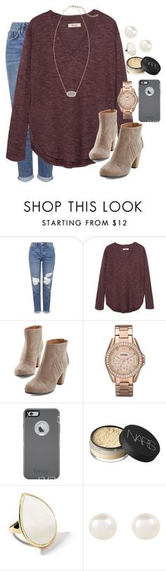 """.500."" by lydiamorrison ❤️ liked on Polyvore featuring Topshop, Madewell, FOSSIL, OtterBox, NARS Cosmetics, Ippolita, Accessorize and Kendra Scott"