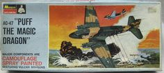 Monogram 1/90 AC-47 Puff The Magic Dragon with Factory Camouflage Paint - Blue Box Issue, PA148 plastic model kit