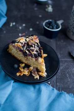 93 best Blueberries images on Pinterest   Blueberries  Blueberry and     Blaubeer Butterkuchen mit Mandeln  Gl    ck ist backbar