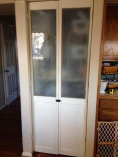 Beautiful A Old Bi Fold Door Turned Into A French Door For The Pantry.
