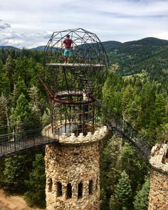 Built by one man and also named after him, the Bishop Castle is one of the coolest castles located one hour from Pueblo, Colorado. Denver Colorado, Pueblo Colorado, Road Trip To Colorado, Colorado Hiking, Colorado Mountains, Centennial Colorado, Durango Colorado, Road Trip Usa, Vacation Places