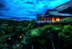 Religious Kiyomizu-dera  Buddhist Temple Otowa-san Kiyomizu-dera Religious Architecture Japanese Japan Night Buddhism Tree Temple Kyoto Wallpaper