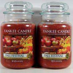Yankee Candle Fall Festival Food & Spice 22 oz Large Jar Retired VHTF Qty 2 #YankeeCandle