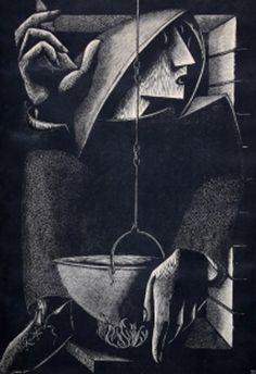 'El Misterio' by Spanish (Catalonian) artist  printmaker Pompeyo Audivert (1900-1977). via Fervor del Atre Argentino