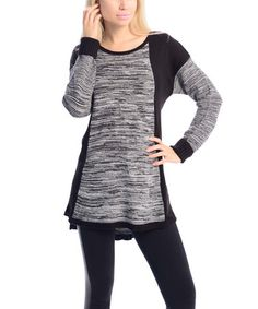 Look at this #zulilyfind! Gray & Black Color Block Sweater by VICE VERSA #zulilyfinds