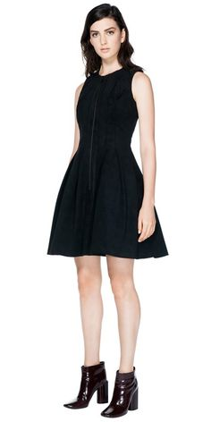 Cue black zip front dress