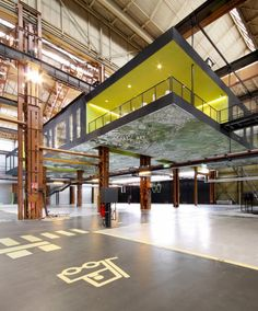 Groosman Partners Architecten recently created a suspended office environment in Rotterdam's Dry-dock Company shipyard