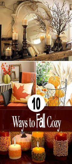 fall home decor 10 Ways to Make Your Home Fall Cozy Easy ideas and a couple tutorials to make fall decorating projects for your home! Autumn Decorating, Decorating Ideas, Decor Ideas, Diy Ideas, Fall Projects, Diy Projects, Diy Décoration, Deco Table, Easy Home Decor