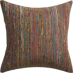 "sari 20"" pillow with down-alternative insert in view all pillows/throws 