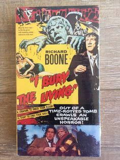 I Bury the Living (VHS, for sale online 1990 Movies, Vhs Movie, Theodore Bikel, Vampire Kiss, Aliens Movie, Vhs To Dvd, Cinema Film, Vhs Tapes, Creature Feature
