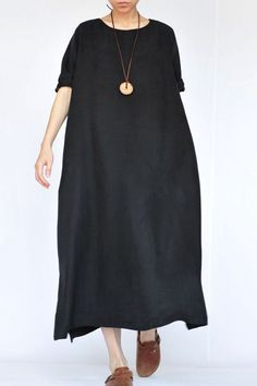 Summer Thin Black Heavy Copper Ammonia Silk Dresses Caftans Gown