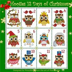 click here to view larger image of Hooties 12 Days of Christmas (chart)