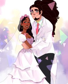 Steven Universe - Steven Universe x Connie Maheswaran - Stevonnie Connie Steven Universe, Steven Universe Ships, Cartoon Network, Connie Stevens, Lapidot, Universe Art, Cute Drawings, Fan Art, Cartoons