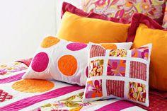 Пэчворк в интерьере, гостиной и спальни, подушки и одеяла, фото, видео | Все о дизайне и ремонте дома
