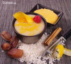 Crema de Arroz con Dátiles y Mango