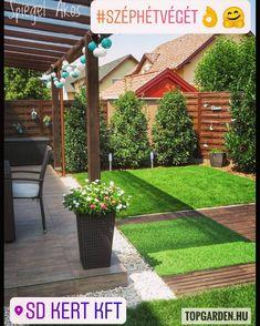 """190 kedvelés, 1 hozzászólás – SD KERT - Spiegel Ákos (@topgarden) Instagram-hozzászólása: """"Szép napot kívánok! ☀️ #gardening #gardendesign #kerttervezés #kerttervező #letisztult #minimalist…"""" Backyard Vegetable Gardens, Backyard Garden Design, Small Garden Design, Terrace Garden, Backyard Landscaping, Outdoor Gardens, Outdoor Garden Furniture, Outdoor Rooms, Outdoor Decor"""
