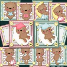 Baby Bear Pink Blue Bumper Kit on Craftsuprint - View Now! Animal Cards, Hobbies And Crafts, Pink Blue, Card Making, Teddy Bear, Kit, Toys, Baby, Animals