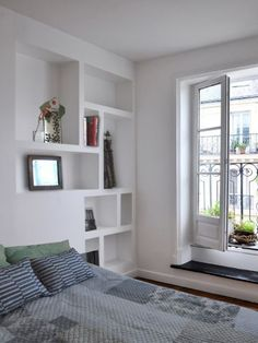 creation bibliotheque meuble en placoplatre placo platre. Black Bedroom Furniture Sets. Home Design Ideas