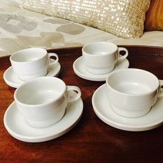 Thomas Germany White China Demitasse Cups: by ACertainFeel on Etsy