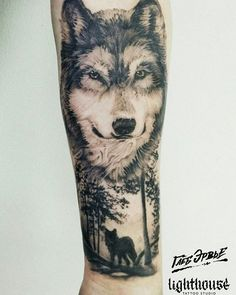 Tattoos on neck Dad Tattoos, Wolf Tattoos, Lion Tattoo, Animal Tattoos, Small Tattoos, Tatoos, Wolf Sleeve, Wolf Tattoo Sleeve, Sleeve Tattoos