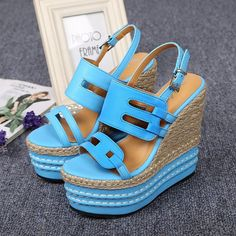 Spring/Summer High Heel Platform Wedges