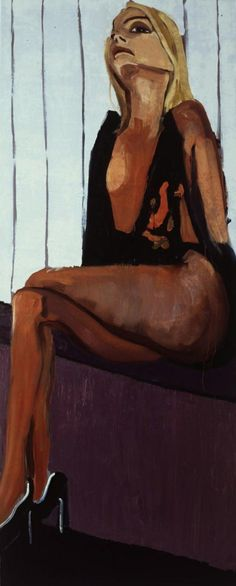 Chantal Joffe - Black Camisole . 2004 (305x124cm)