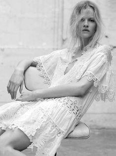 Numéro #32 April 2002 Model: Mariacarla Boscono, An Oost, Anouck Lepère Photographer: Mikael Jansson Fashion Editor: Joanne Blades Hair: Mike Lundgren Make-up: Romy Soleimani
