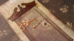 """""""Ajtó mögül üzenek"""" - képeslap idézettel, Dekoráció, Férfiaknak, Képeslap, album, füzet, Képeslap, levélpapír, Meska"""
