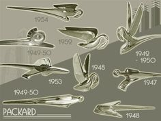Packard hood ornaments. This site is terrific for helping one identify cars (providing the hood ornament hasn't been swapped out over the years).