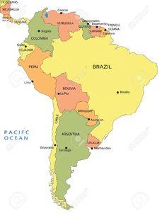 Actividades para niños preescolar, primaria e inicial. Plantillas con mapas del mundo y por continentes para imprimir. Mapas. 15