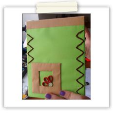 Green hand-made notebook