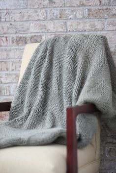 Delicate, pretty, yet simple. Ravelry: Alpine Throw pattern by Nice and Knit.