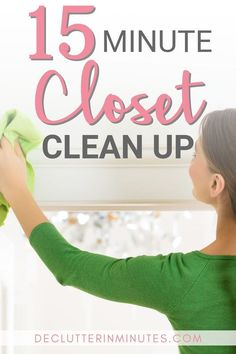 When was the last time you cleaned the inside of your closet? With a small room that contains such expensive items, it is important to keep the walls, floors, and shelves clean and free of dust. This will help your clothes last longer. #cleancloset #organizedcloset #closetorganization #declutterinminutes