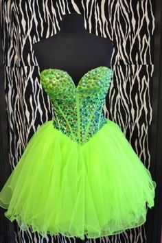 Lime green prom dresses - short evening gown  My Style ...