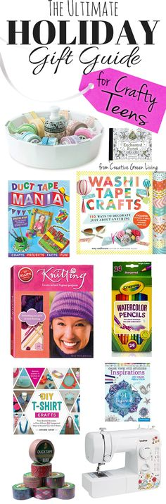 The best gift ideas for creative teen and tween girls who love to craft and make things! Lots of ideas in this guide that range from cheap to more expensive popular gifts.