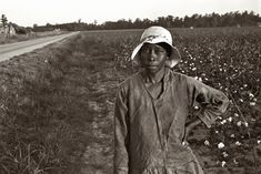 October 1935. Cotton picker in Pulaski County, Arkansas. 35mm nitrate negative by Ben Shahn for the Farm Security Administration.