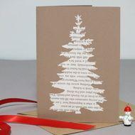 Papercut christmas card - christmas tree