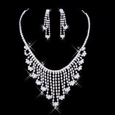 Silver-white fashion alloy Bridal Necklace