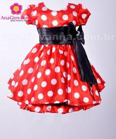 a8400d292fc 15 melhores imagens de Vestido Minnie Vermelha